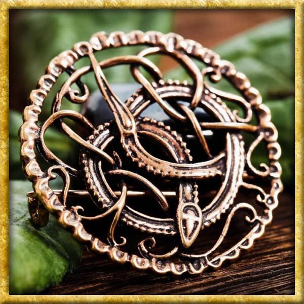 Wikinger Brosche Midgardschlange - Bronze
