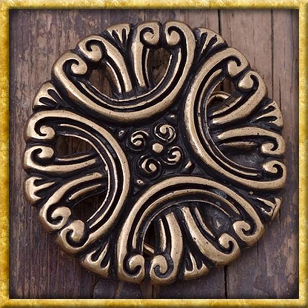 Gürtelschnalle mit Blumenmuster - Silber oder Bronze