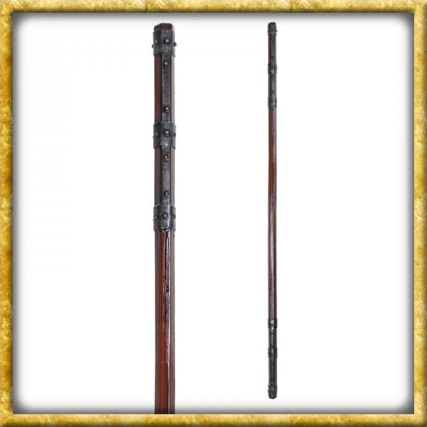 LARP Kampfstab mit Eisenbändern