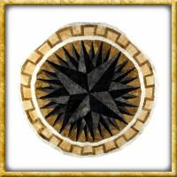 Lammfelldecke Black Star - Durchmesser 150cm | Drachenhort