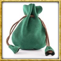 Kleiner Geldbeutel aus Wildleder - Grün