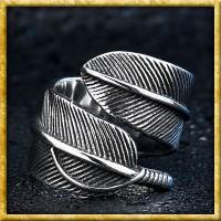 Mittalter Ring in Form einer Feder