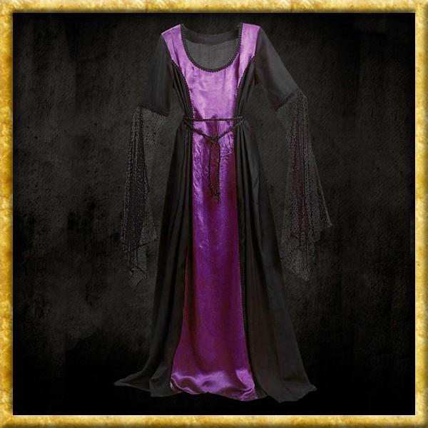 Gothic Kleid - Schwarz/Violett
