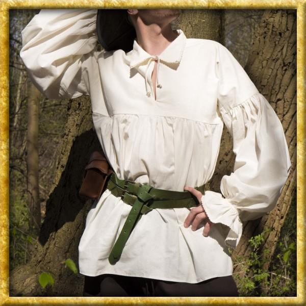 Mittelalterhemd Aramis - Weiss