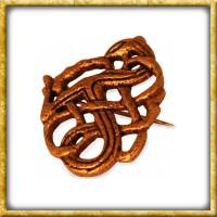 Wikinger Fibel mit Drachen - Bronze