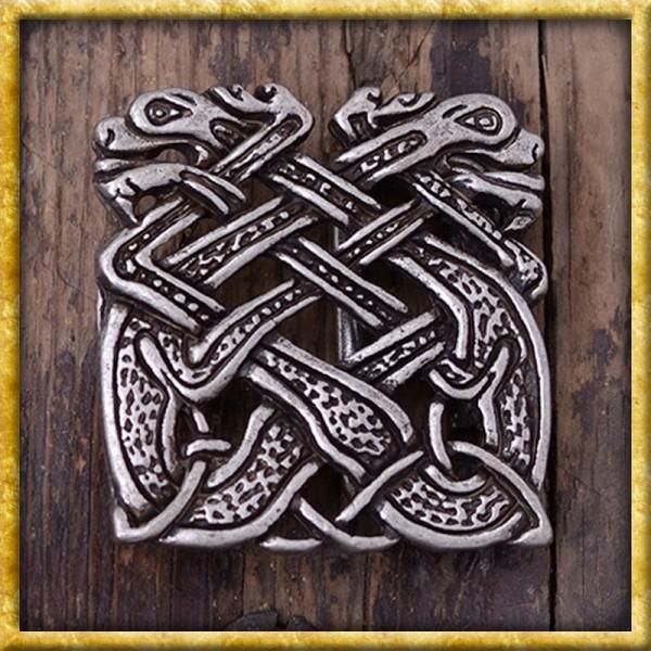 Gürtelschnalle Keltische Hunde - Silber oder Bronze