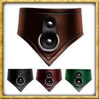 Lederhalsband mit Ring Sklave - Diverse Farben