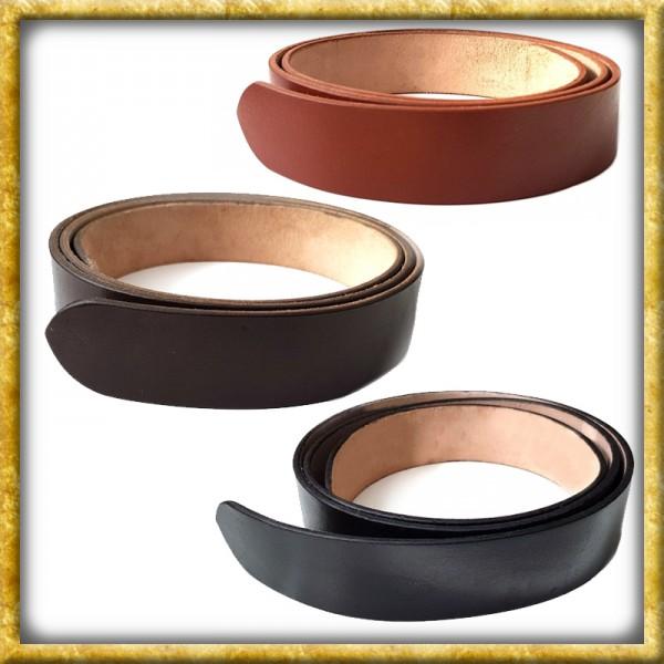 Gürtelrohling aus robustem Leder - Diverse Farben