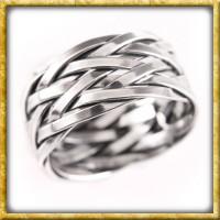 Wikinger Flechtring Hedin aus Silber