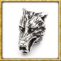 Bartperle mit Wolfskopf - Silber