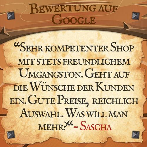 Google Bewertung Sascha | Drachenhort