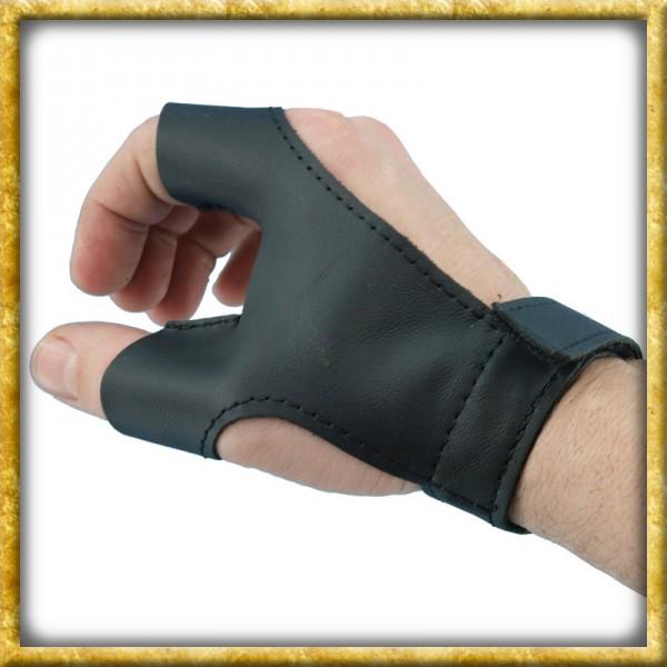 Bogenhandschuh aus Leder für Linkshänder - Schwarz