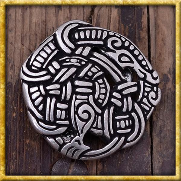 Gürtelschnalle Midgardschlange - Silber oder Bronze