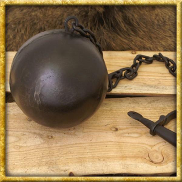 Mittelalter Fussschelle mit Kette und Eisenkugel