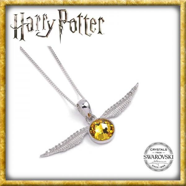 Harry Potter - Goldener Schnatz Halskette & Anhänger Swarovksi