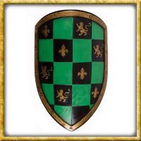 LARP Wappenschild - Grün/Schwarz