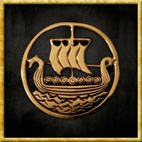 Wikinger Brosche - Drachenboot