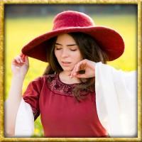 Handgefertigter Filzhut - Rot