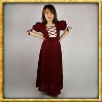 Sommerkleid für Mädchen - Rot/Natur