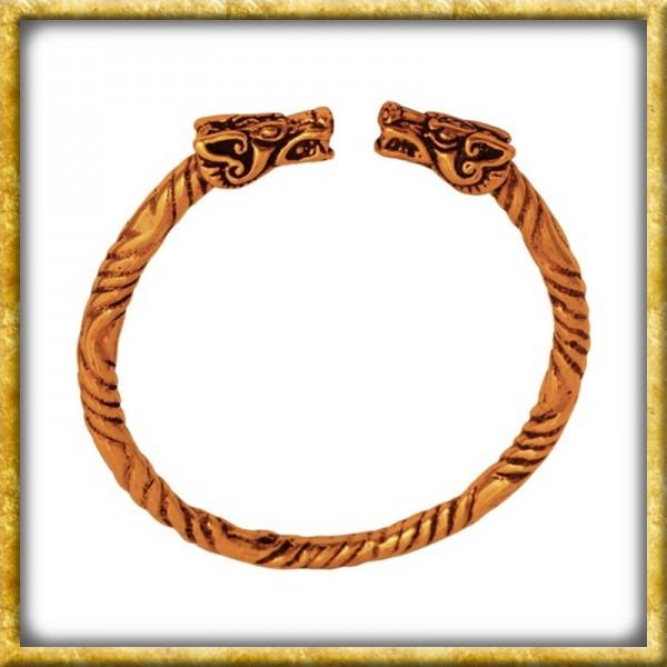 Grosser Wikinger Armreif aus Bronze - Drache
