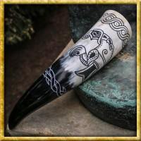 Trinkhorn mit nordischen Symbolen - ca. 400ml