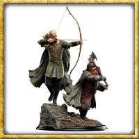 Herr der Ringe - Statue Legolas und Gimli Amon Hen