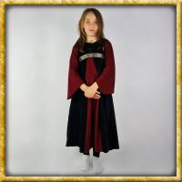 Samtkleid für Mädchen - Schwarz/Rot