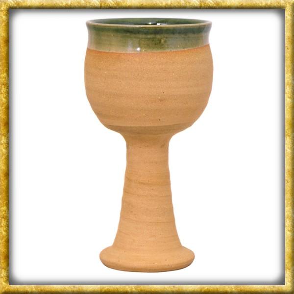 Hochmittelalterlicher Weinkelch aus Ton - 0,2 Liter