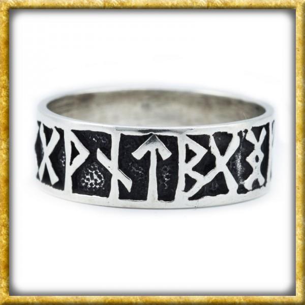 Wikinger Runen Ring aus Silber