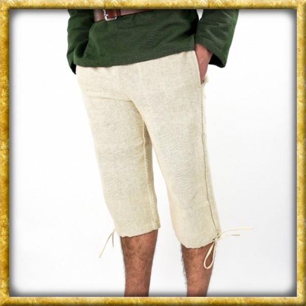 Kniebundhose aus grober Baumwolle - Natur