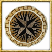 Lammfelldecke Black/Brown - Durchmesser 150cm