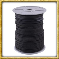 Vierkantriemen aus schwarzem Leder - 2,8mm