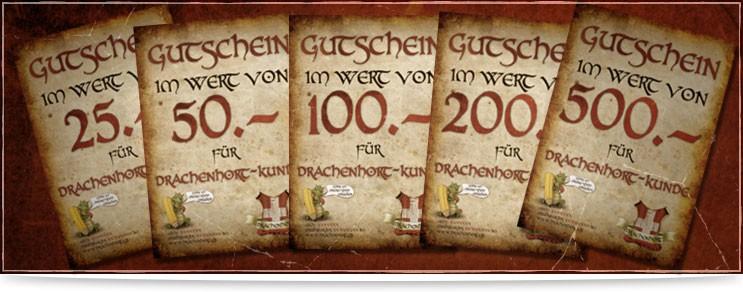 Mittelalter & Fantasy Gutscheine zum Schenken| Drachenhort