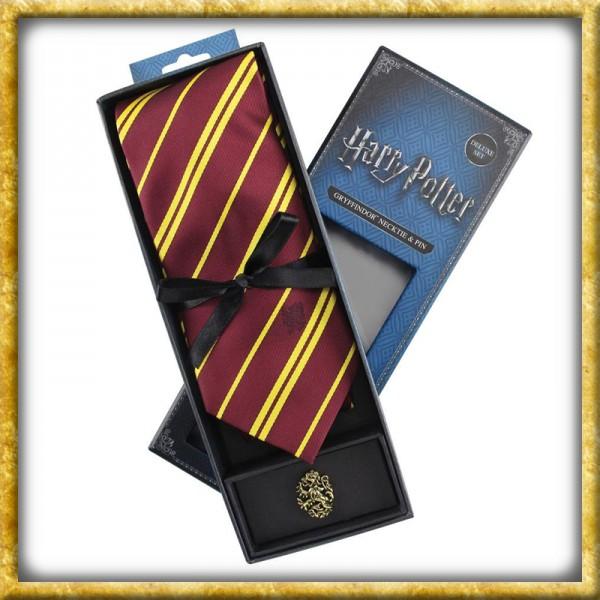 Harry Potter - Krawatte & Ansteckpin Gryffindor