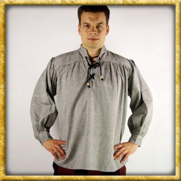 Schweres Baumwollhemd - Grau
