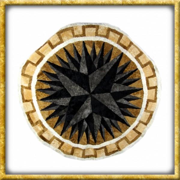 Lammfelldecke Black Star - Durchmesser 150cm   Drachenhort