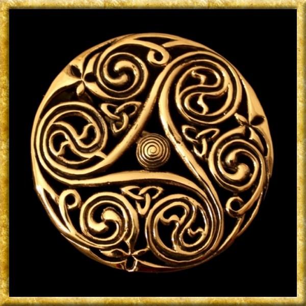 Keltische Brosche Triskele - Bronze
