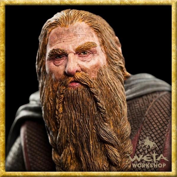 Herr der Ringe - Statue Gimli auf Uruk-Hai
