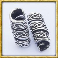 Bartperle mit keltischem Knoten - Silber