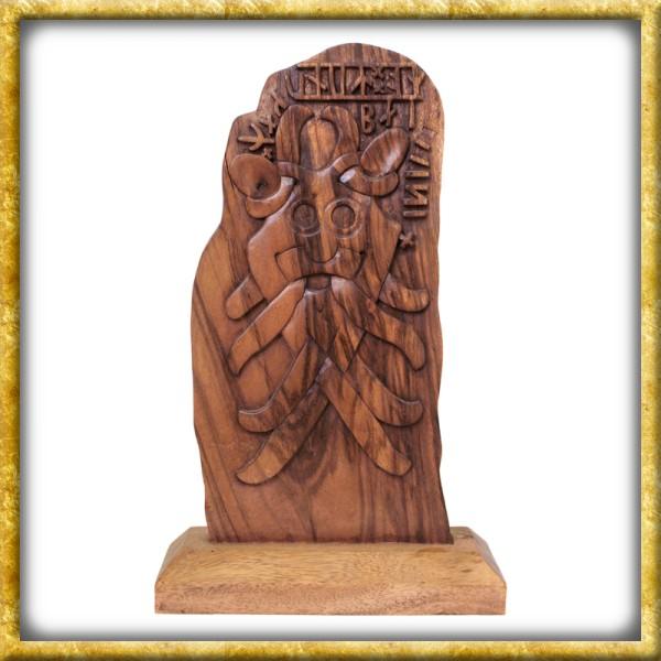 Runenstein aus Holz - Odin