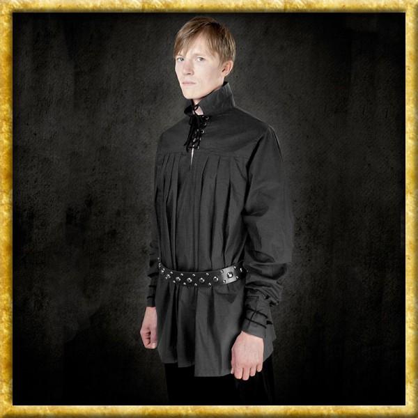 Langes Baumwollhemd - Schwarz
