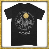 Harry Potter - T-Shirt Hogwarts Line-Art