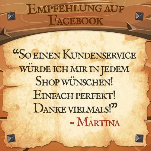 Facebook Bewertung Martina | Drachenhort