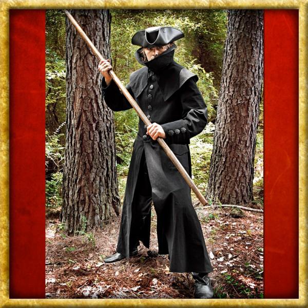 Mantel mit hohem Kragen - Schwarz