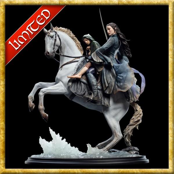 Herr der Ringe - Statue Arwen & Frodo auf Asfaloth