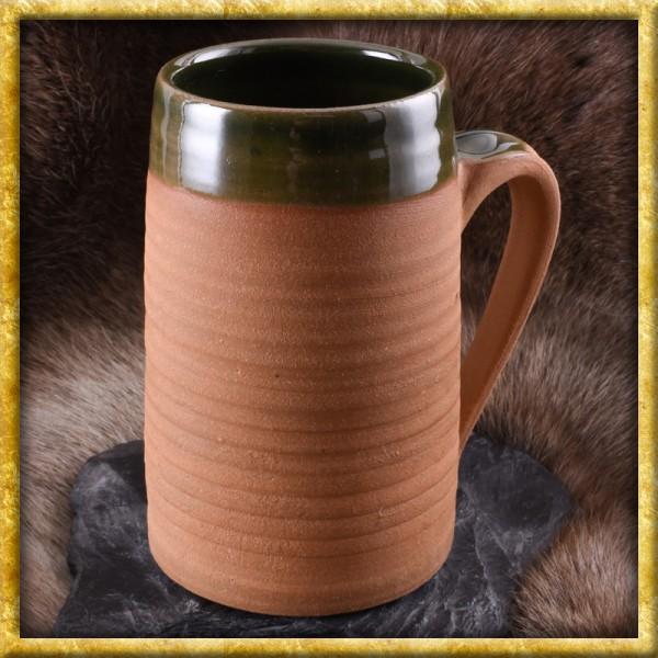Hochmittelalterlicher Bierkrug aus Ton - 0,5 Liter