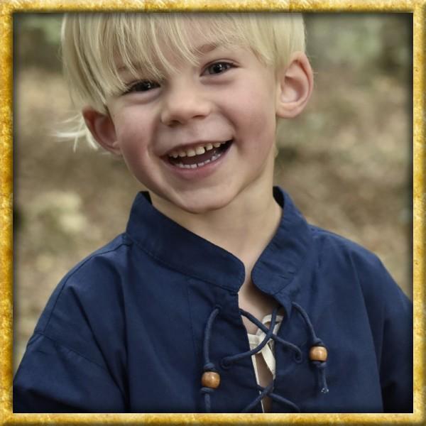 Mittelalterhemd Colin für Kinder - Blau