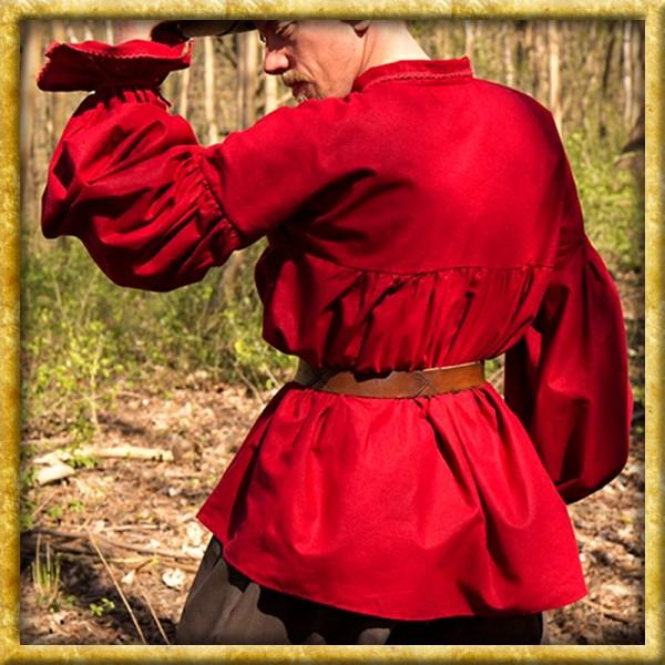 Mittelalterhemd Aramis - Dunkelrot