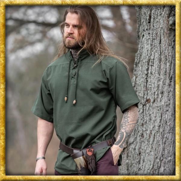 Mittelalter Kurzarmhemd - Grün