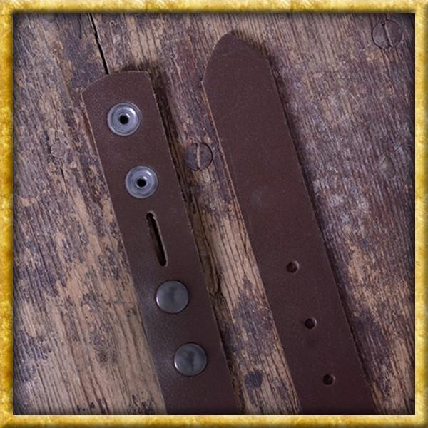Ledergürtel ohne Schnalle Braun - 105cm